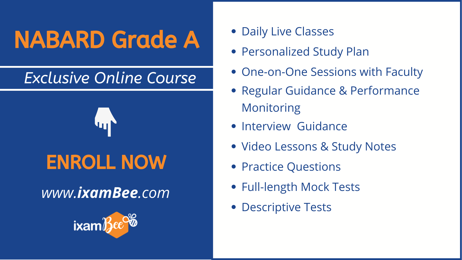 NABARD Grade A Exclusive Online Course