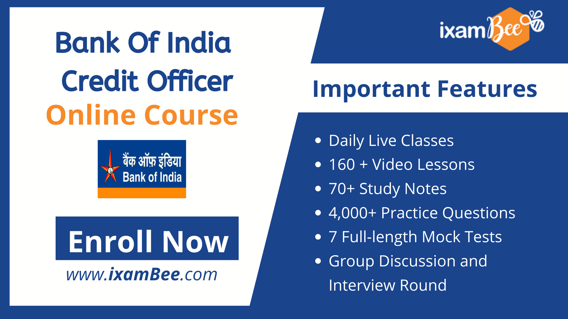 Bank of India Credit Officer online course
