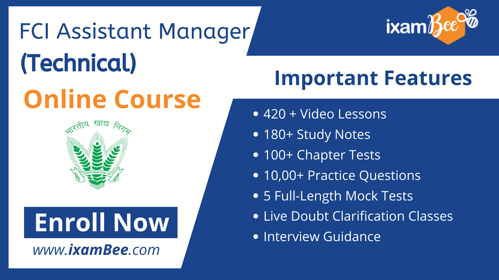 FCI Assistant General Manager (Technical) online course