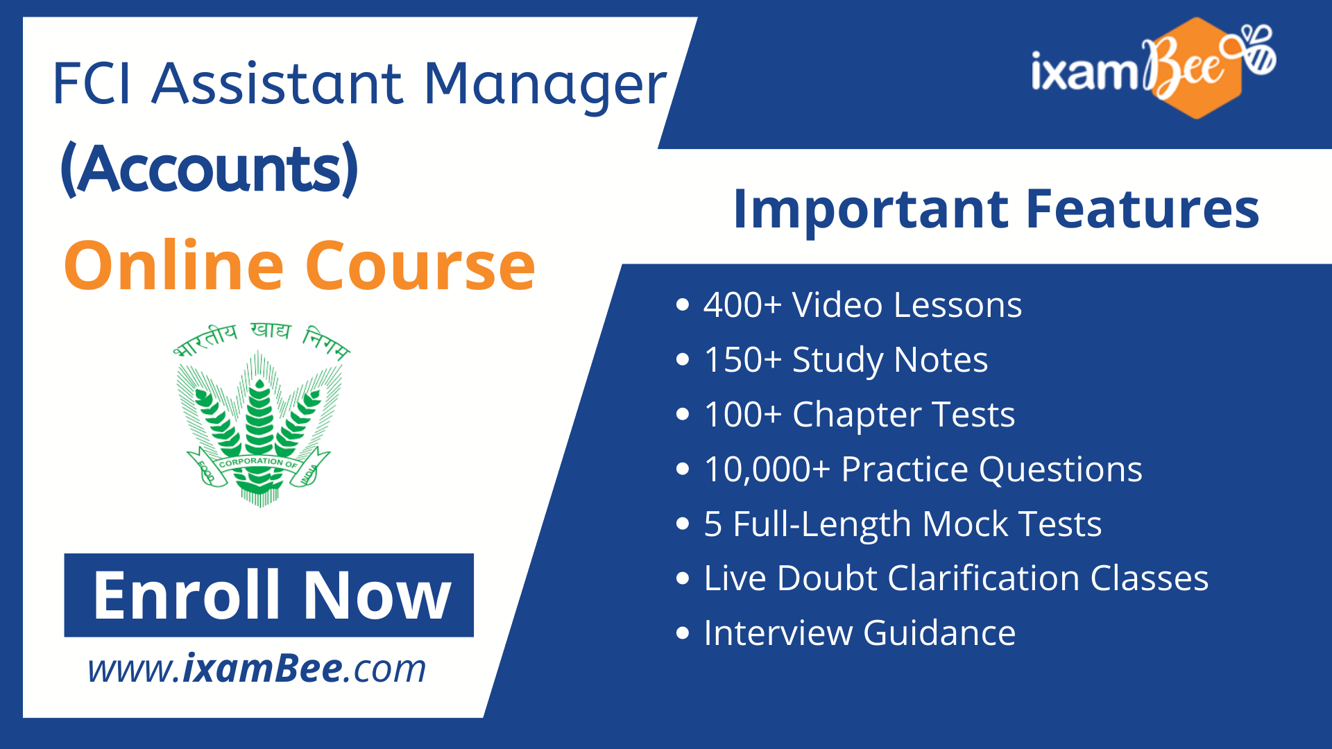 FCI Assistant General Manager (Accounts) Online Course