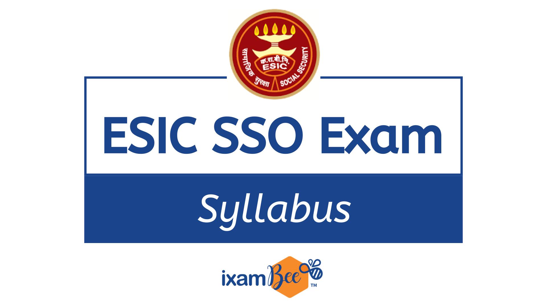 ESIC SSO Exam Books