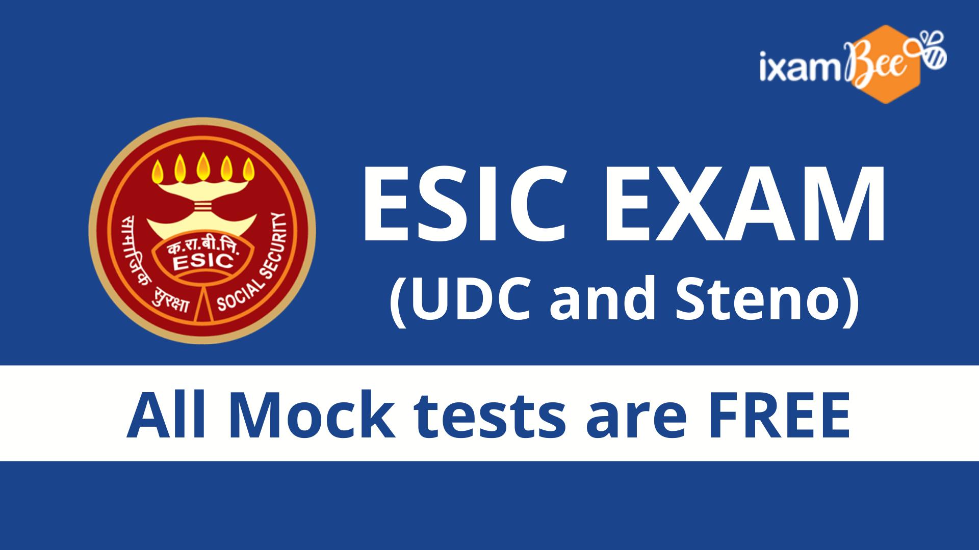 ESIC UDC and Stenographer