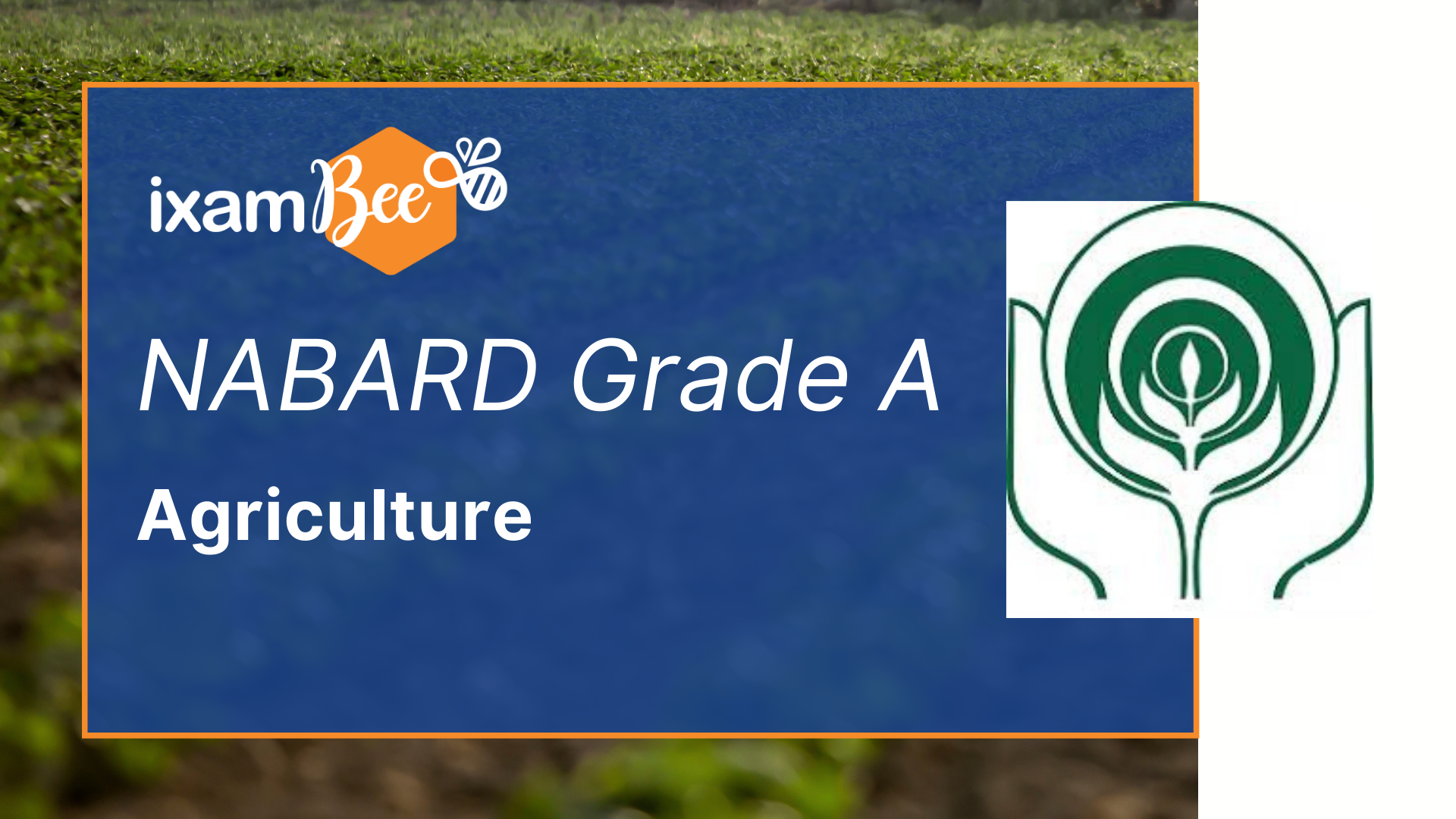 NABARD Grade A agriculture