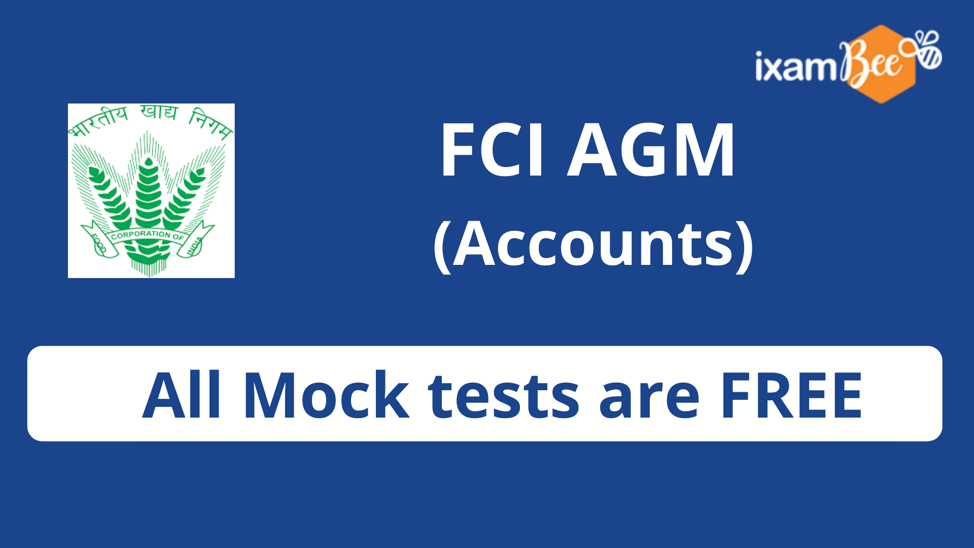 FCI Assistant General Manager (Accounts) FMT