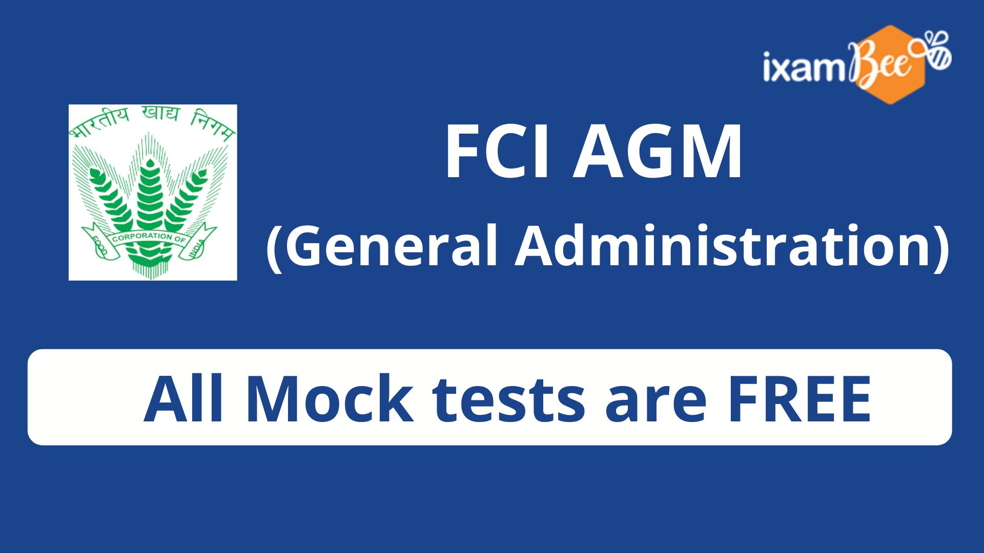 FCI Assistant General Manager (General Administration) FMT