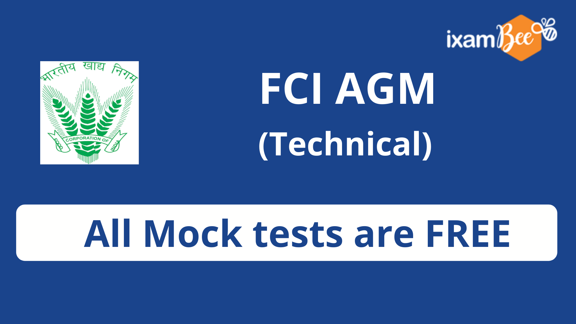 FCI Assistant Gen. Manager(Technical)