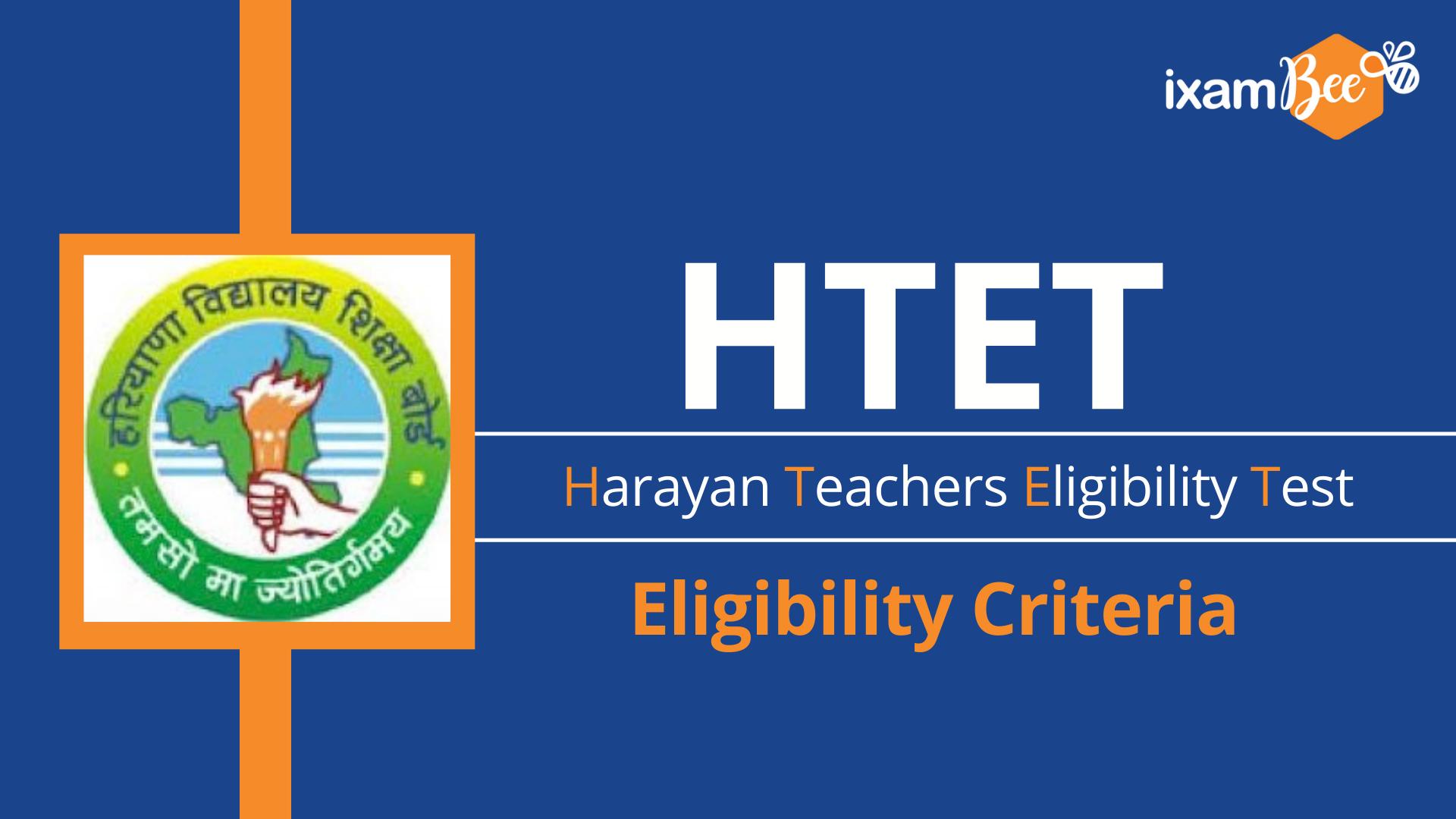 HTET Exam Eligibility Criteria
