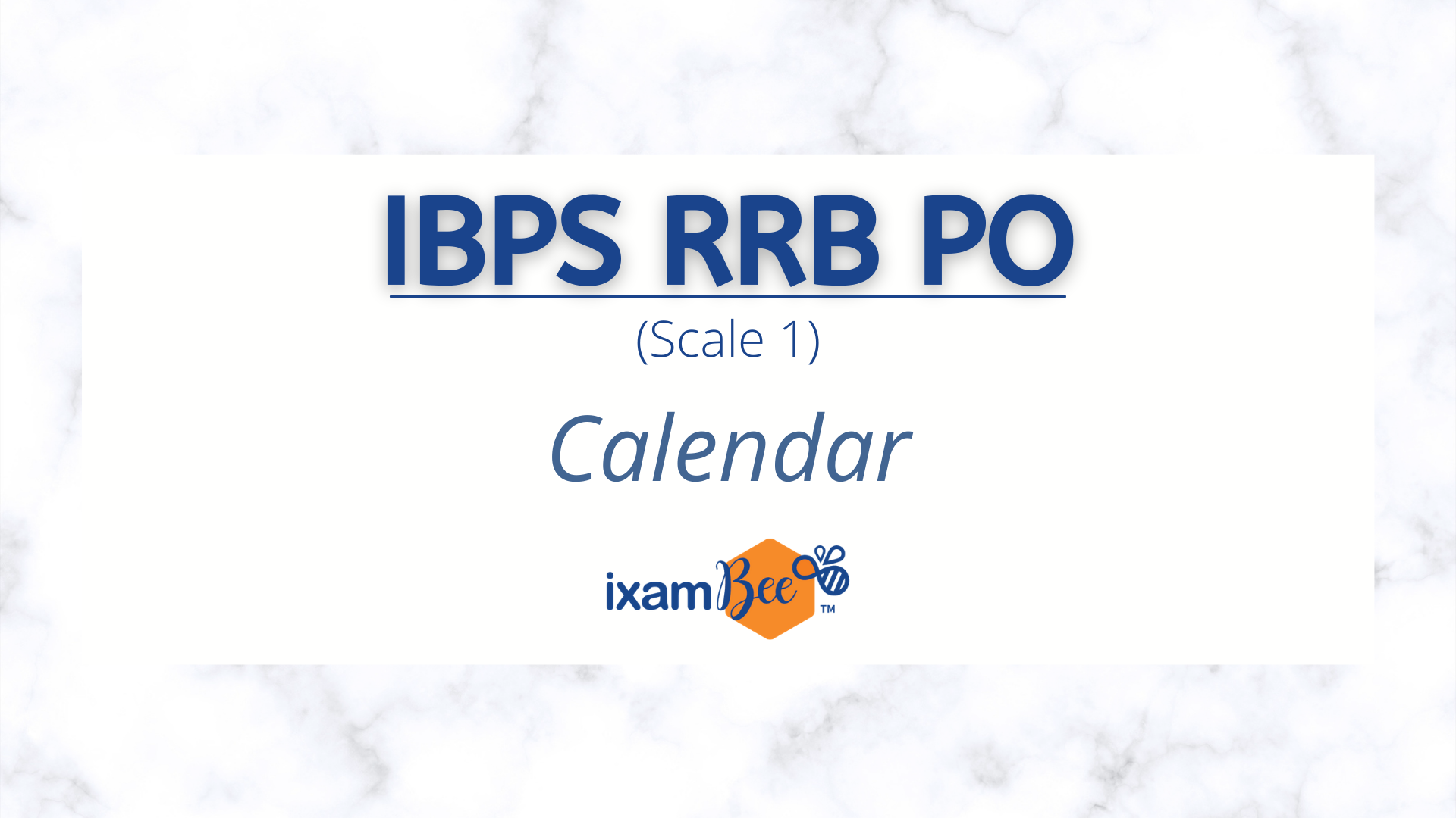 IBPS RRB Officer Scale 1 Exam Dates