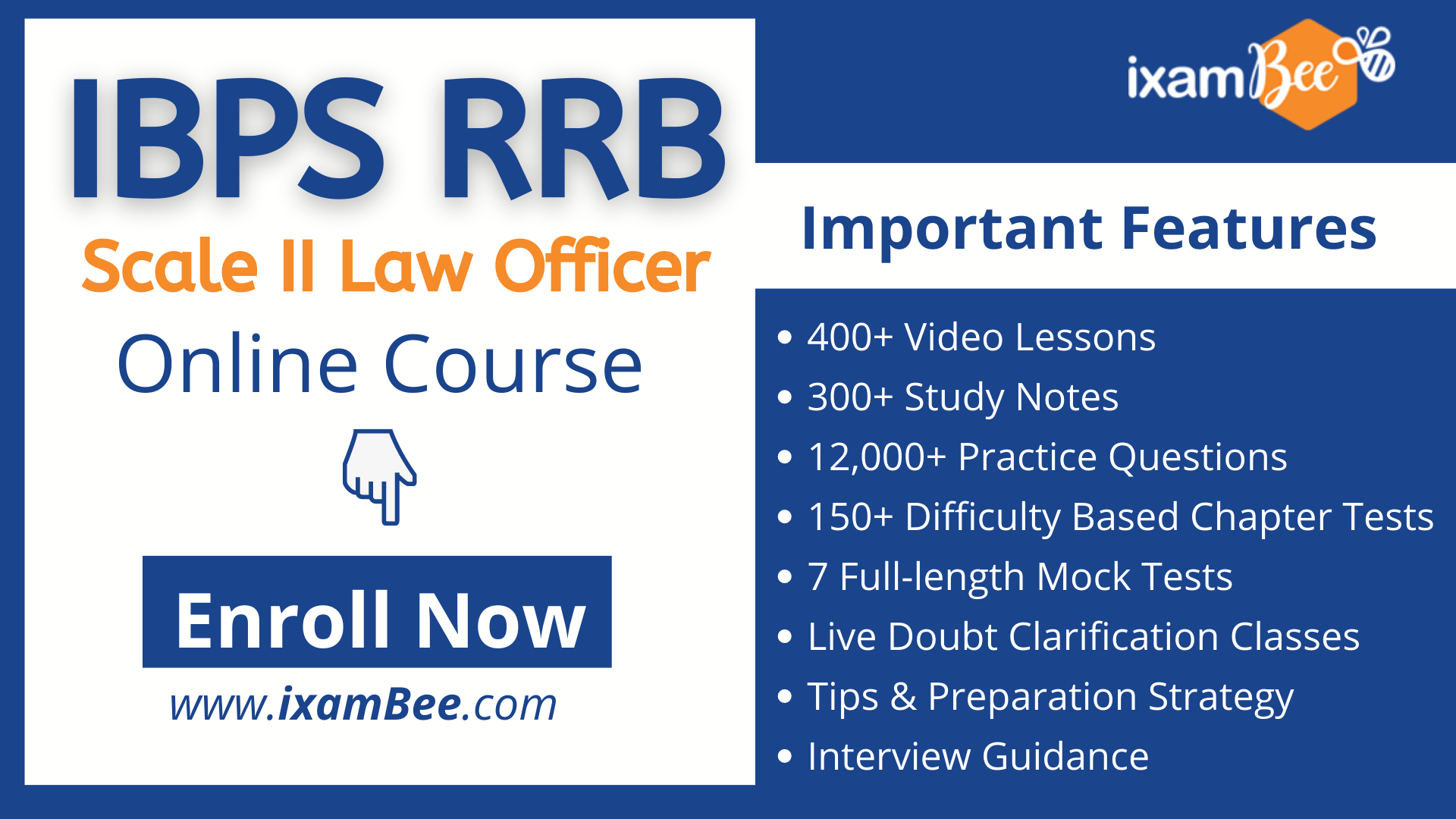 IBPS RRB Scale 2 LAW officer online course page