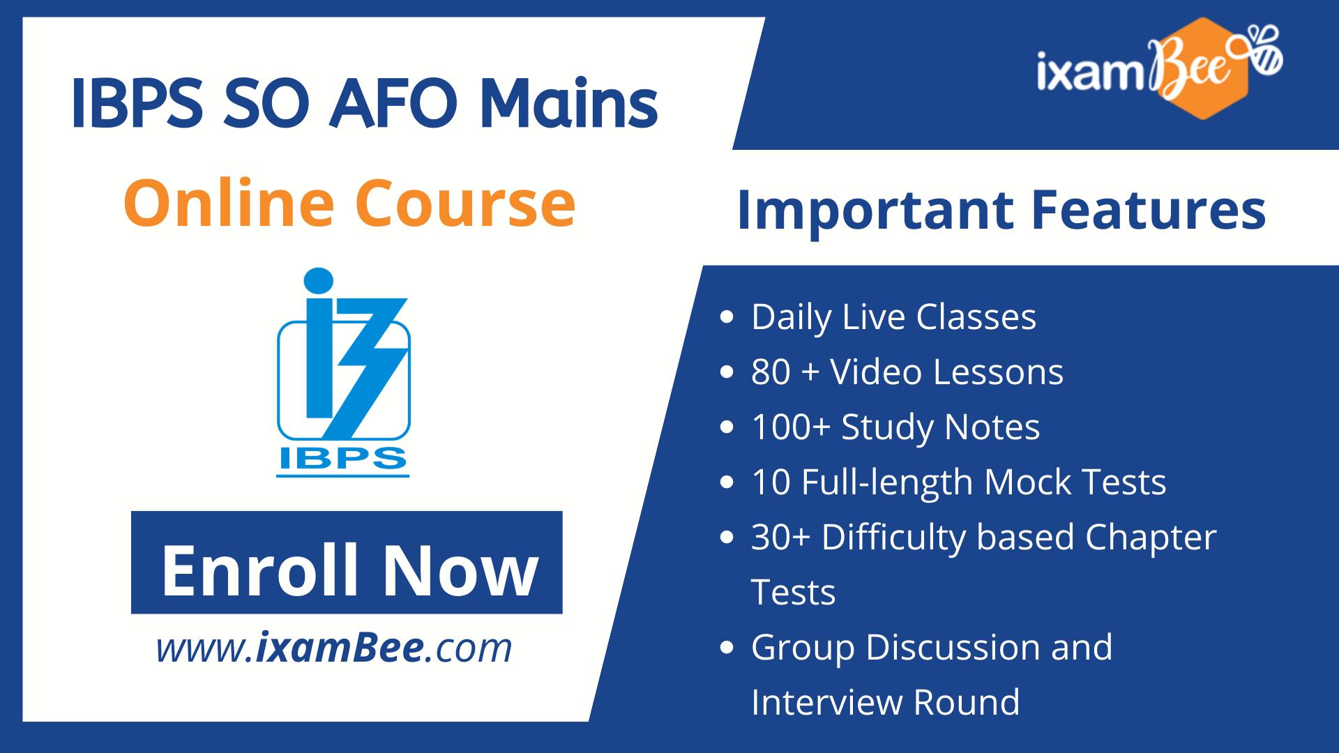 IBPS AFO Mains online course