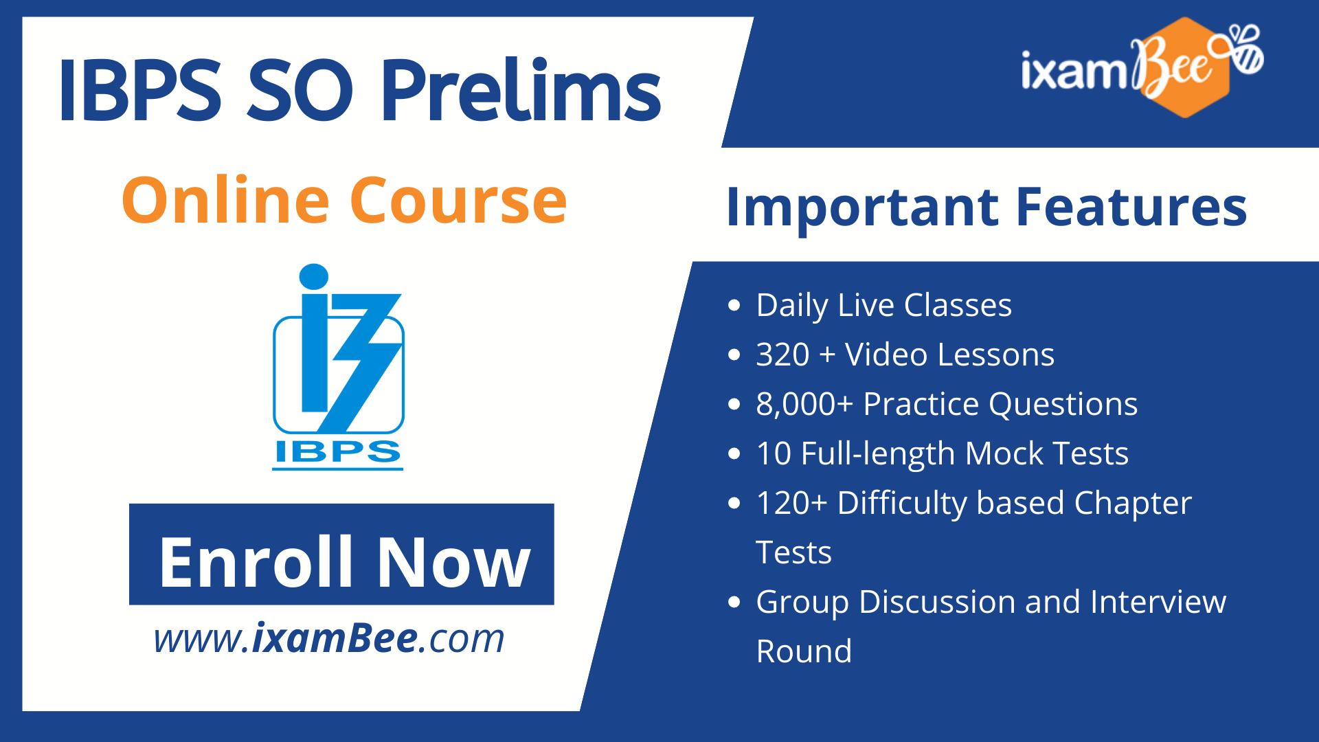 IBPS SO Prelims online course