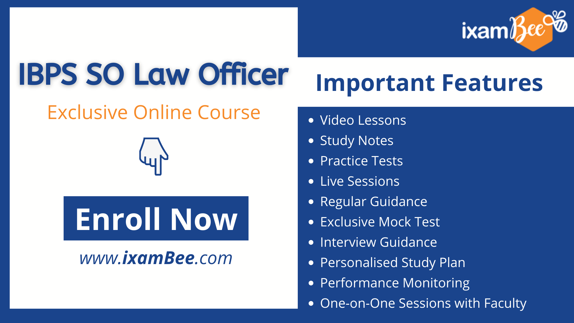 IBPS SO LAW officer online course page