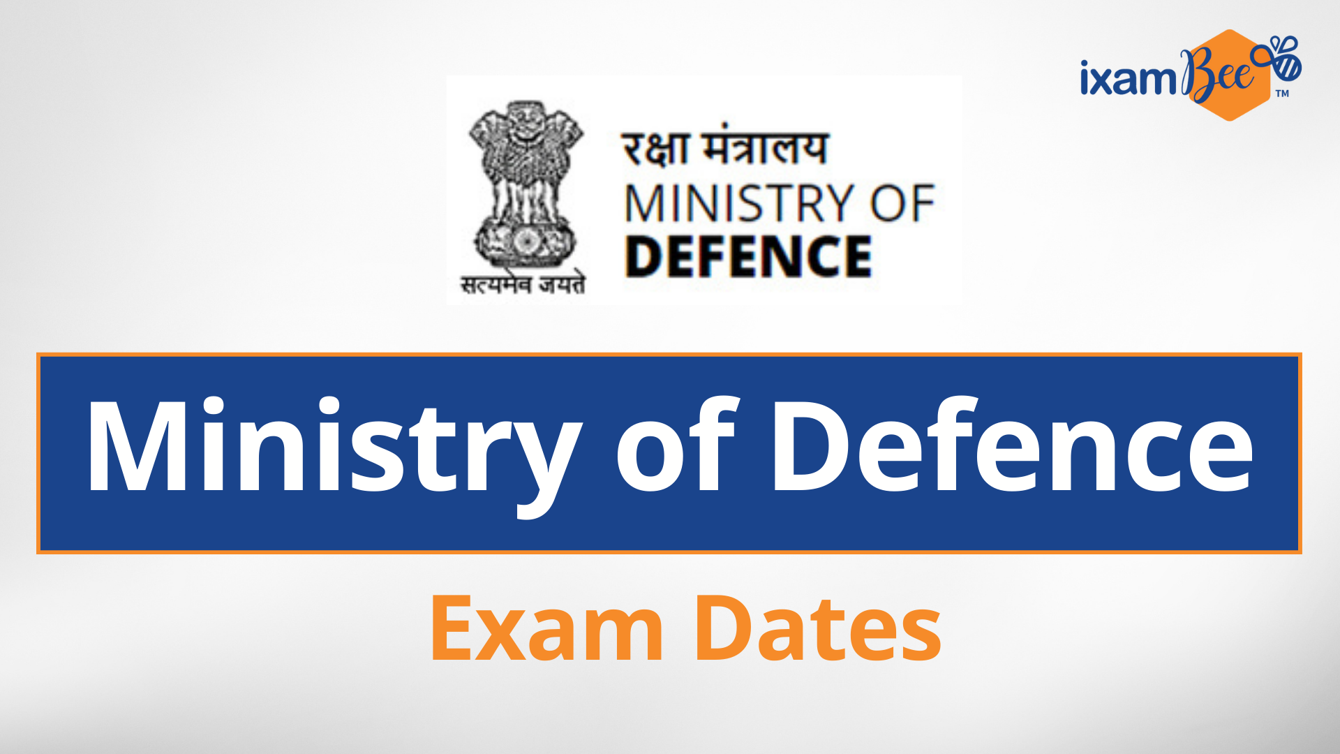 Ministry of Defence Exam Dates 2021