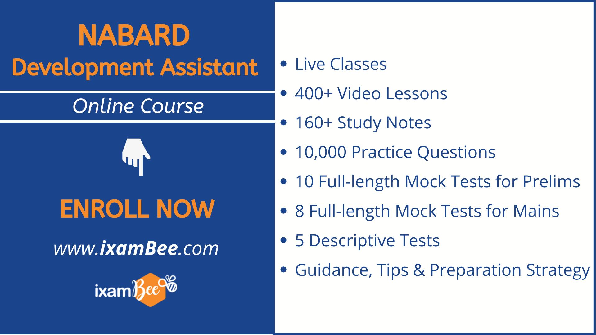 nabard development assistant online course