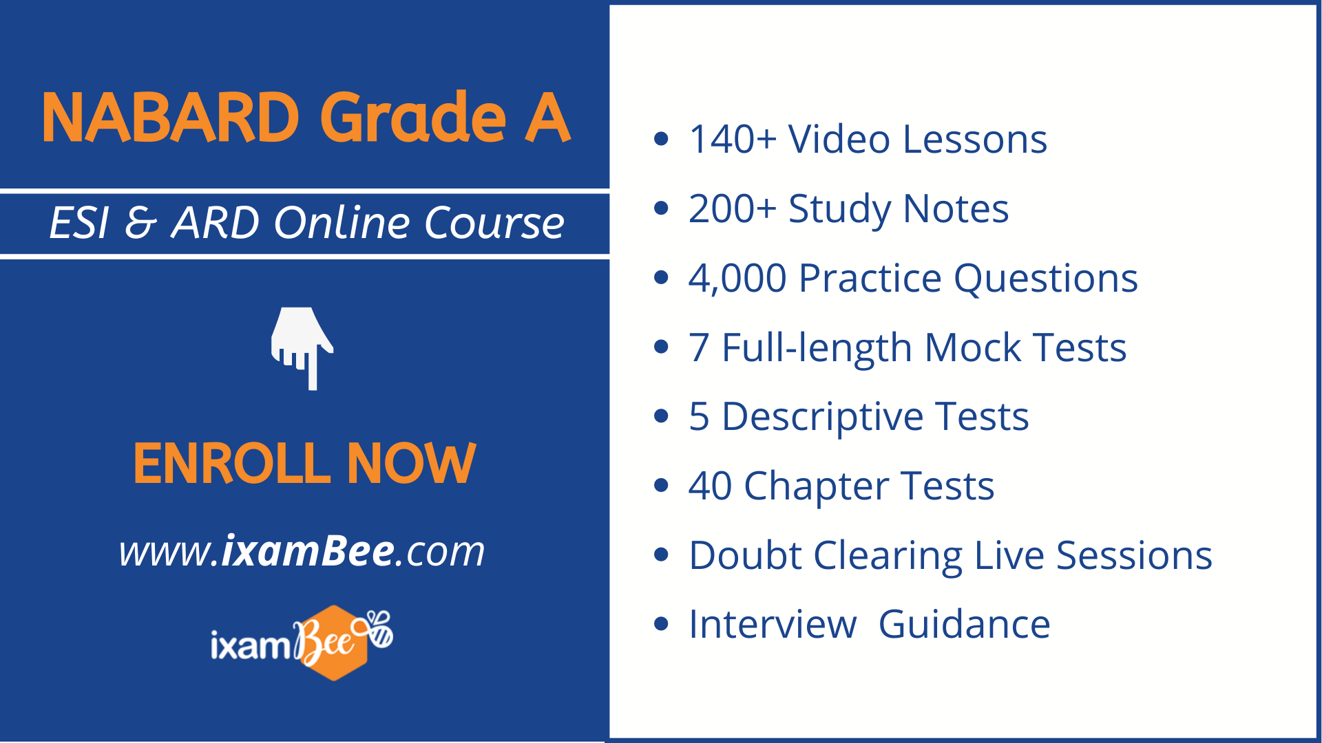 NABARD Grade A ESI and ARD online course