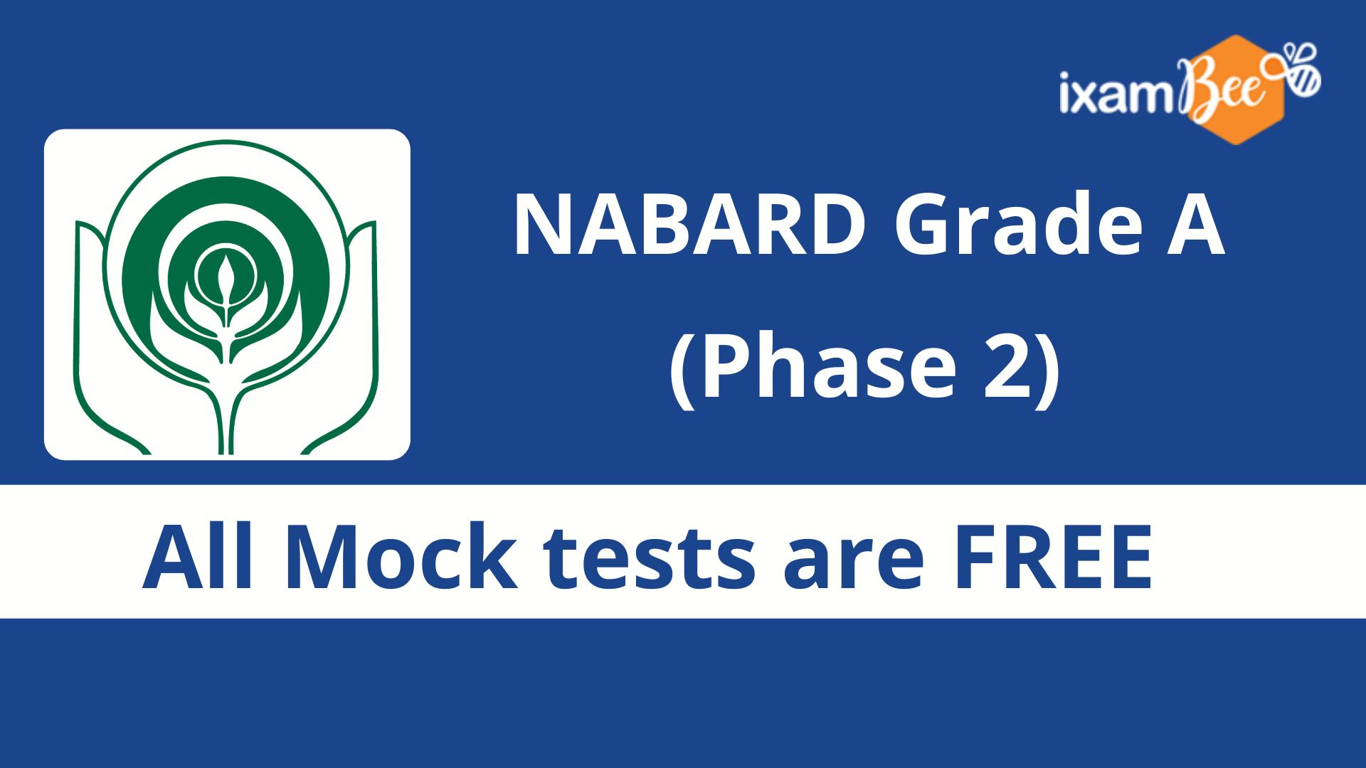 NABARD grade a mains free mock test