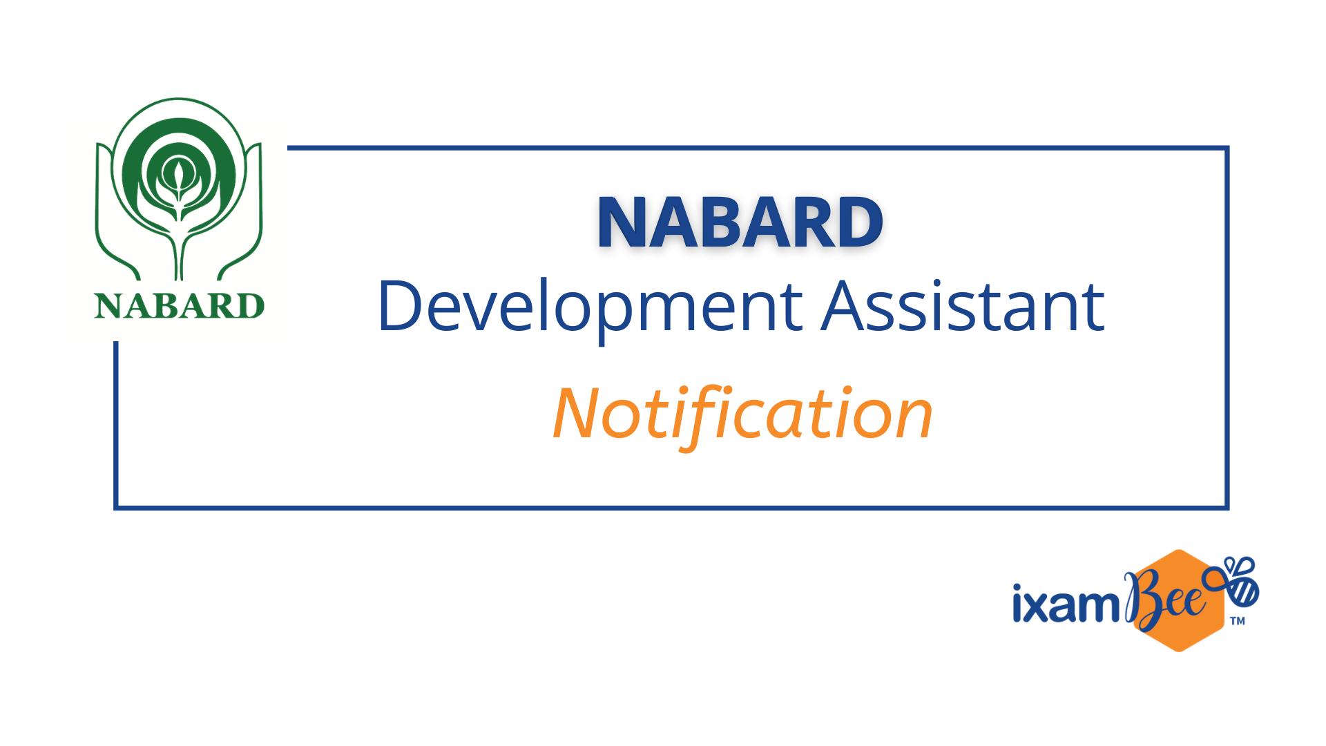 NABARD Development Assistant Notification