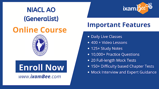 NIACL AO (Generalist) Online Course