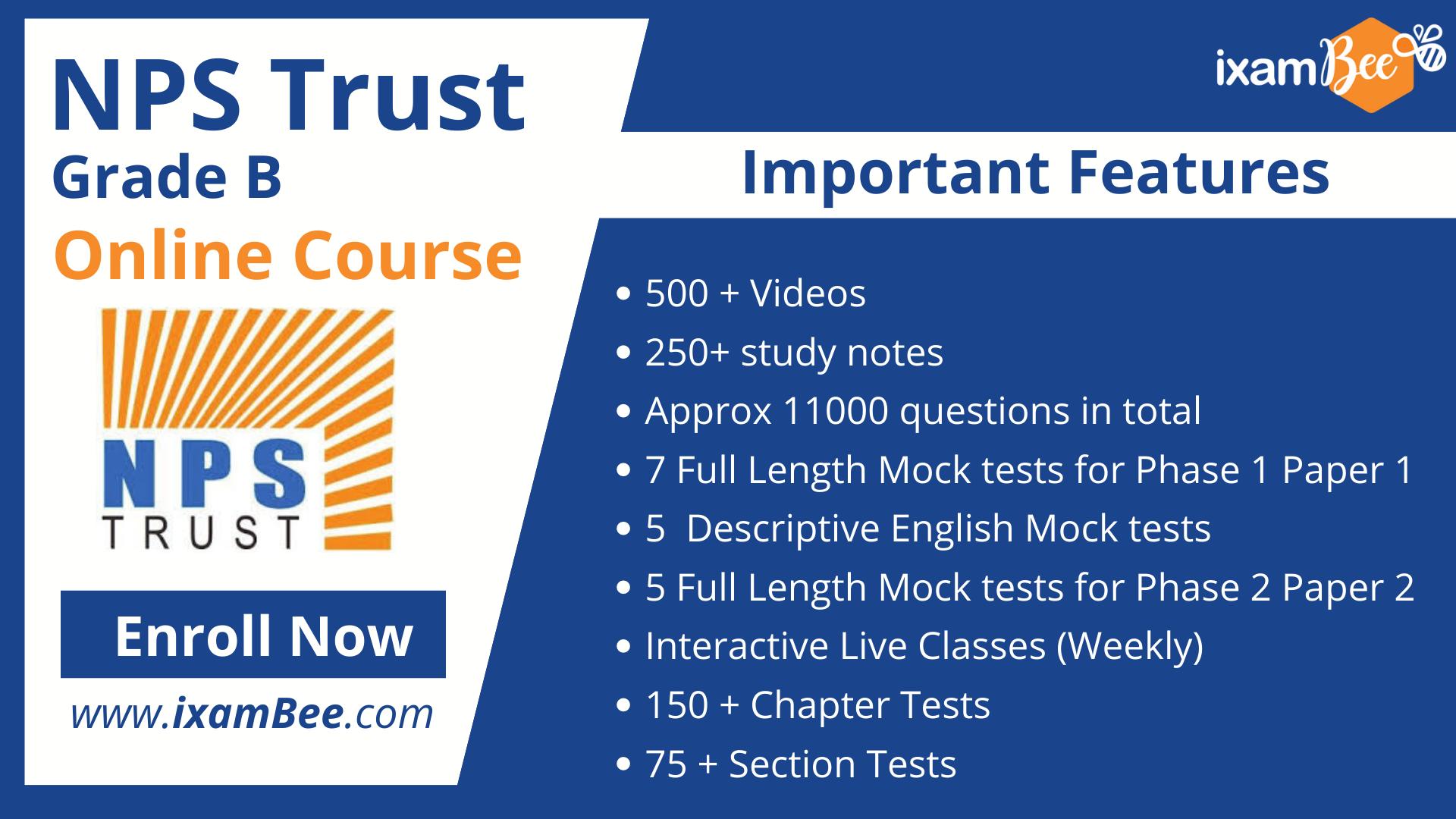 NPS Trust Grade B Online Course