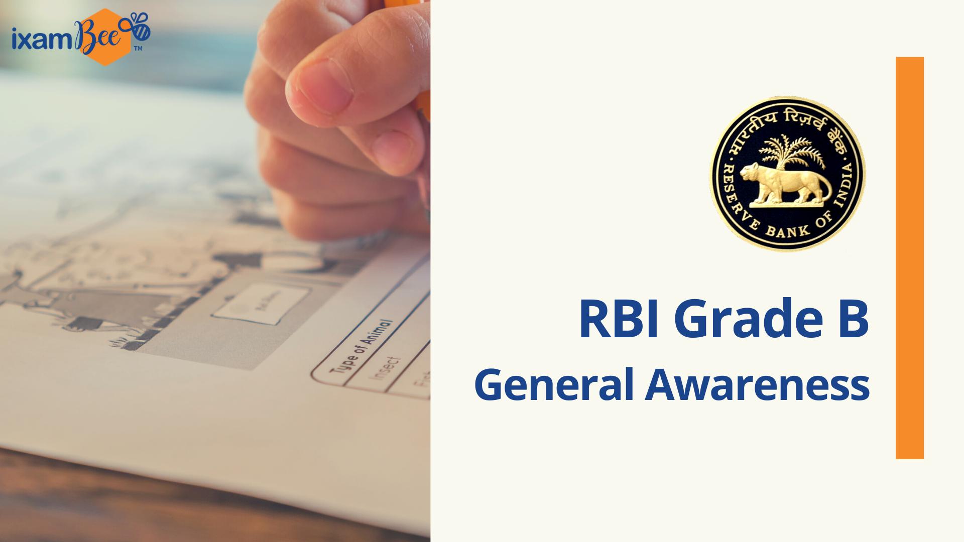 RBI Grade B general awareness 2021