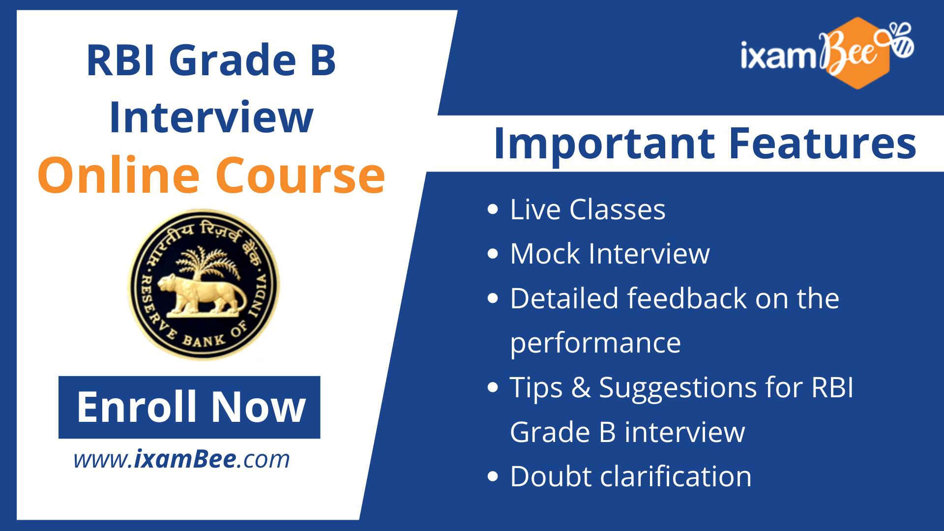 rbi grade b interview course
