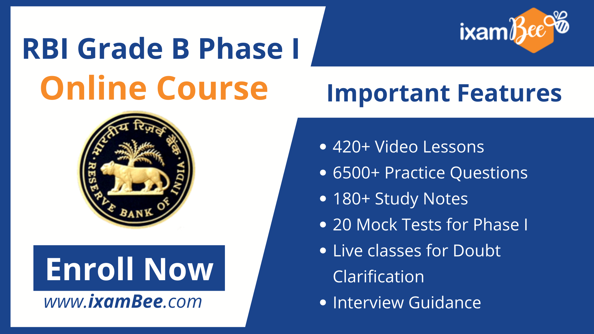 rbi grade b phase I online course