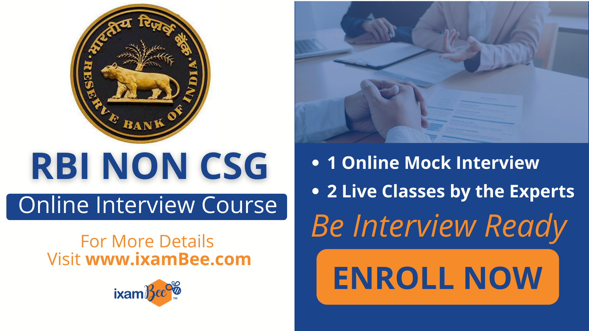 RBI Non CSG Interview Course Page