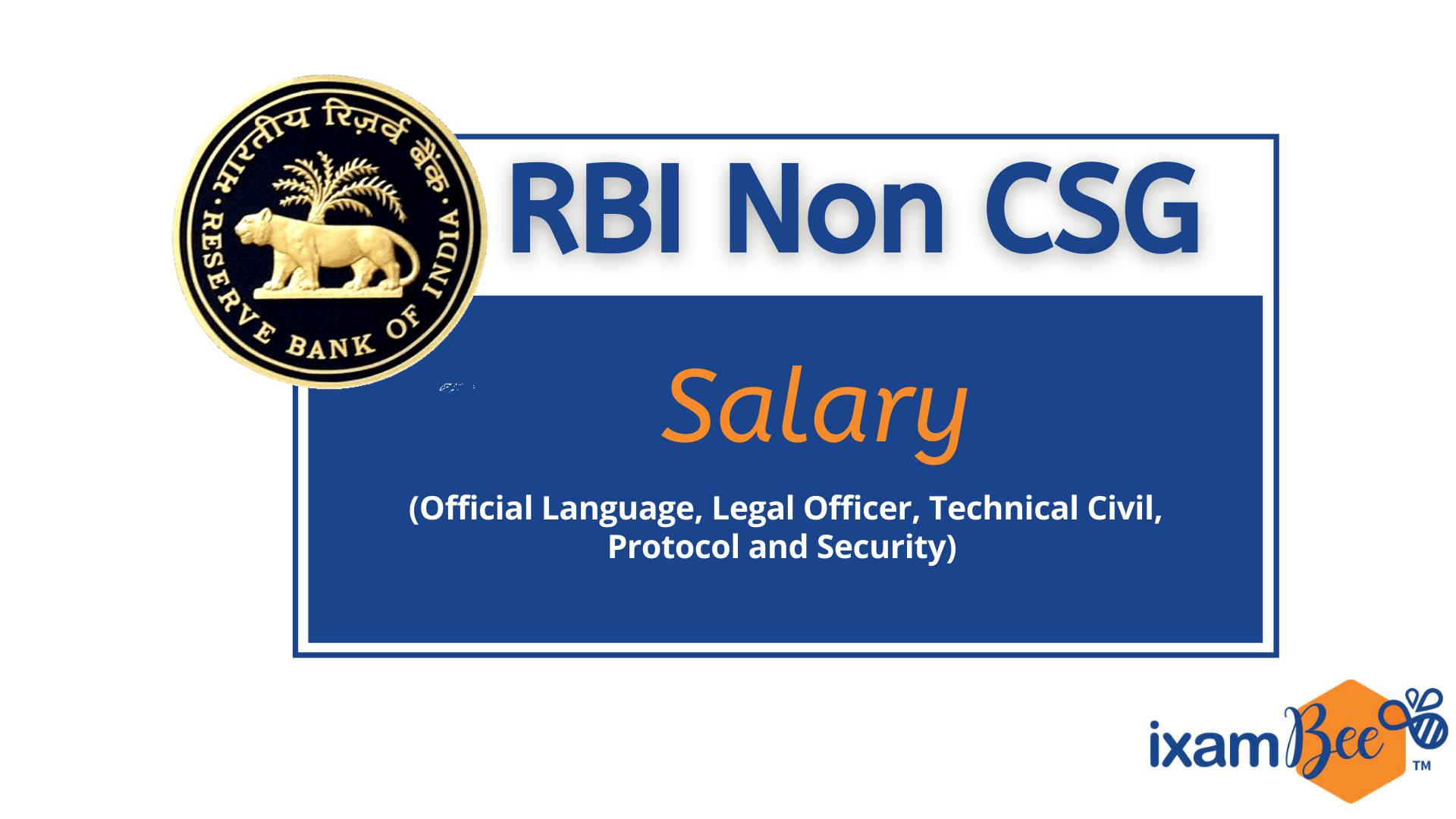 RBI Non CSG Salary 2021