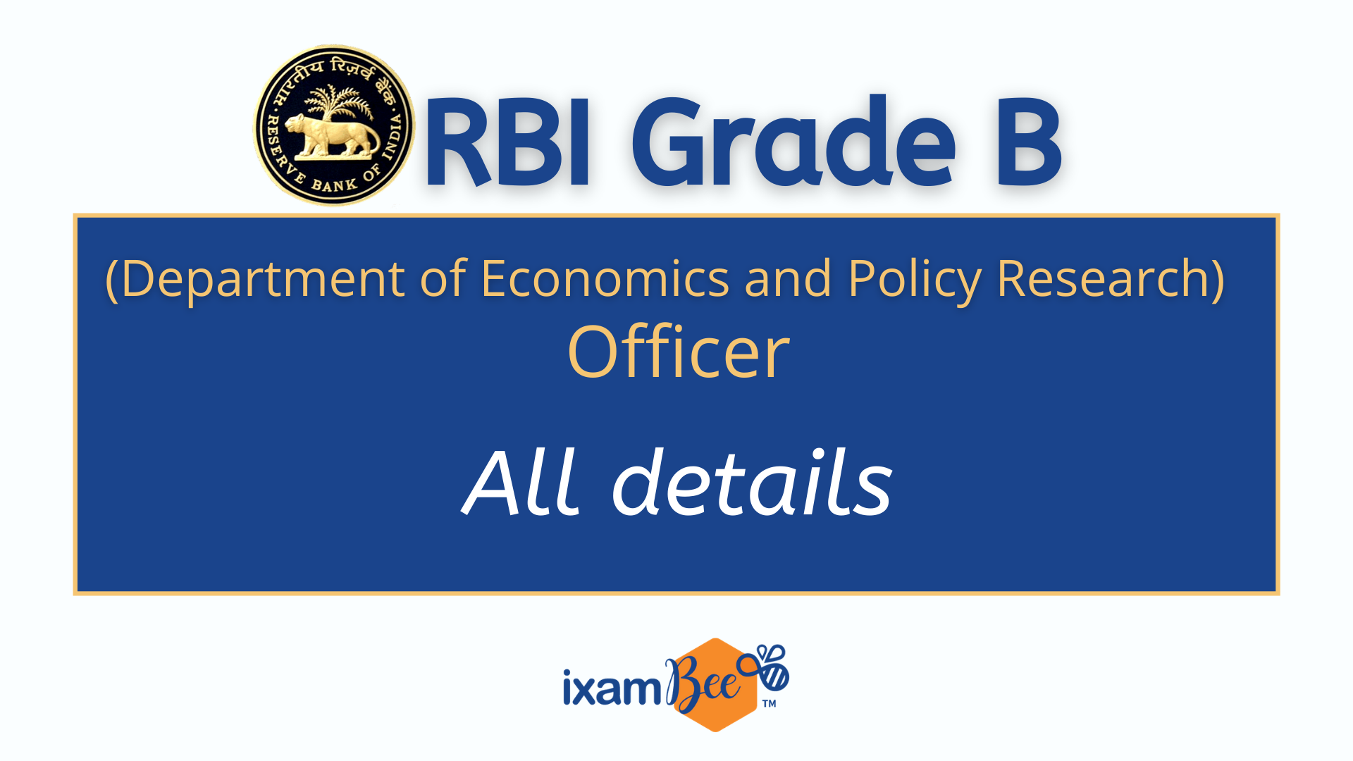 RBI Grade B DEPR 2021
