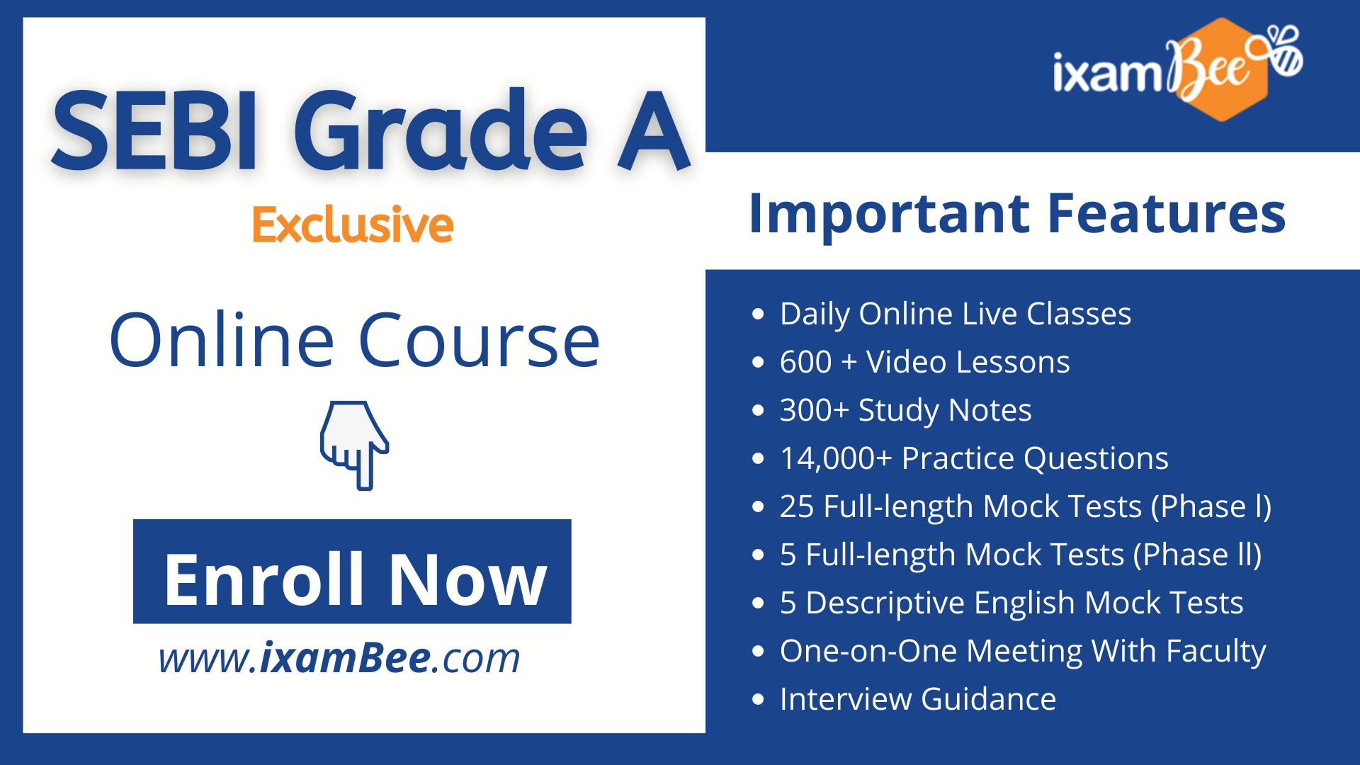 SEBI Grade A Exclusive Online Course