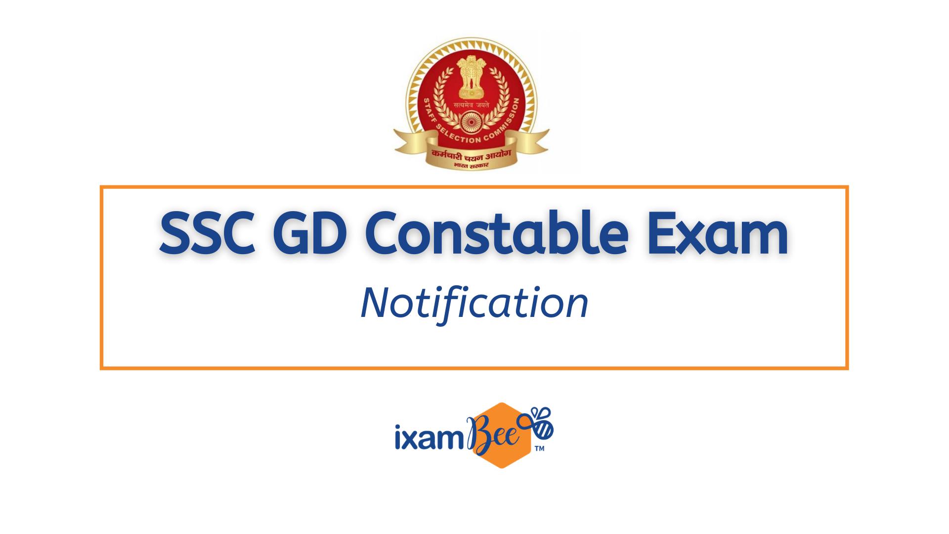 SSC GD Constable Exam Notification