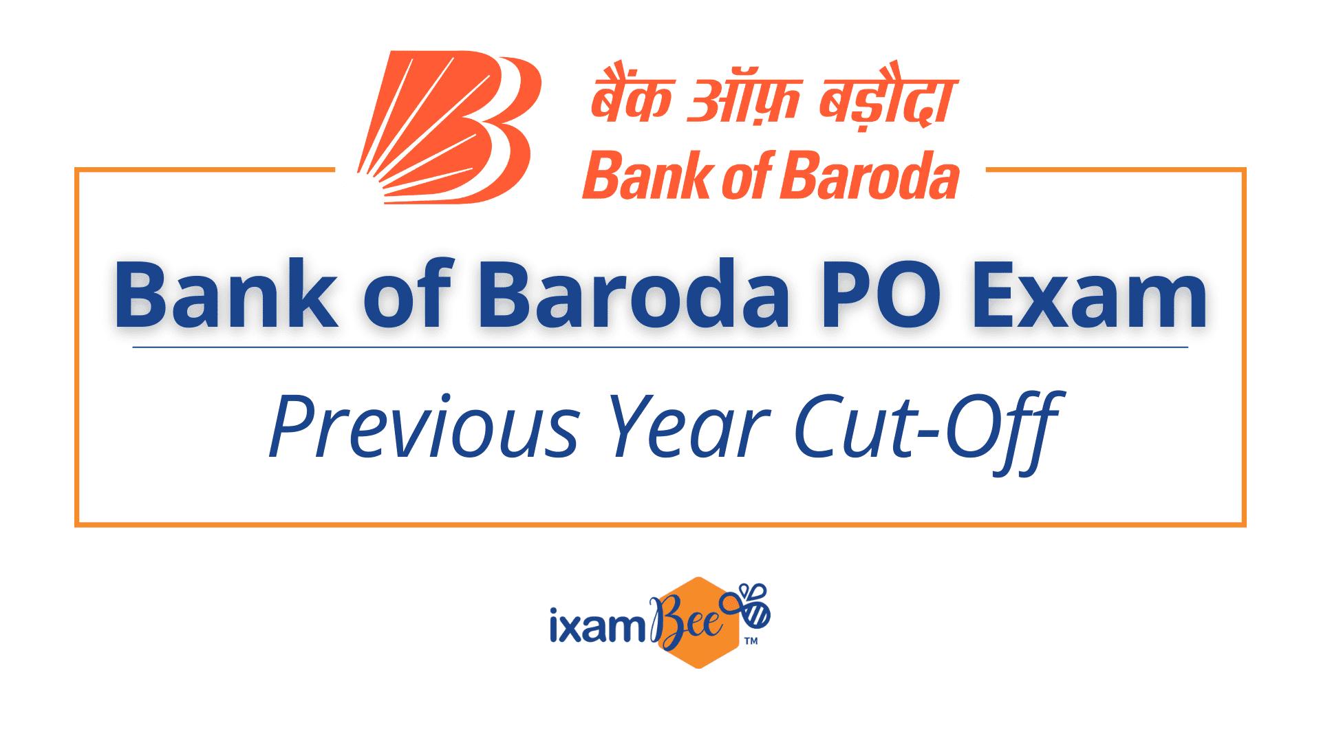 Bank of Baroda PO Exam Cut Off
