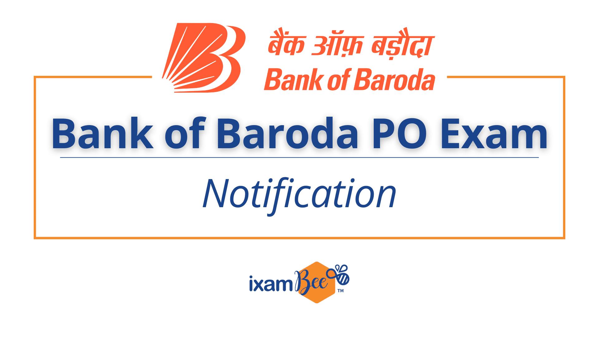 Bank of Baroda PO Exam Notification