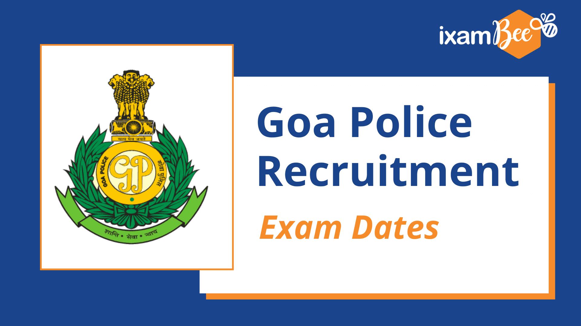 Goa Police Recruitment Calendar