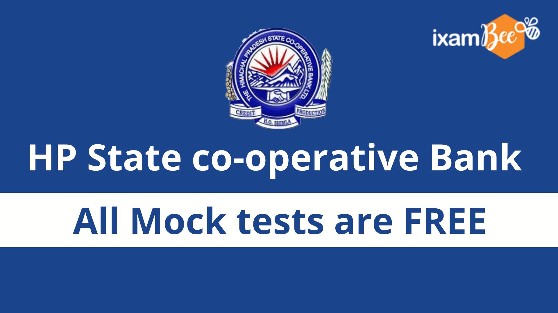 HP State Cooperative Bank Ltd Free Mock Test