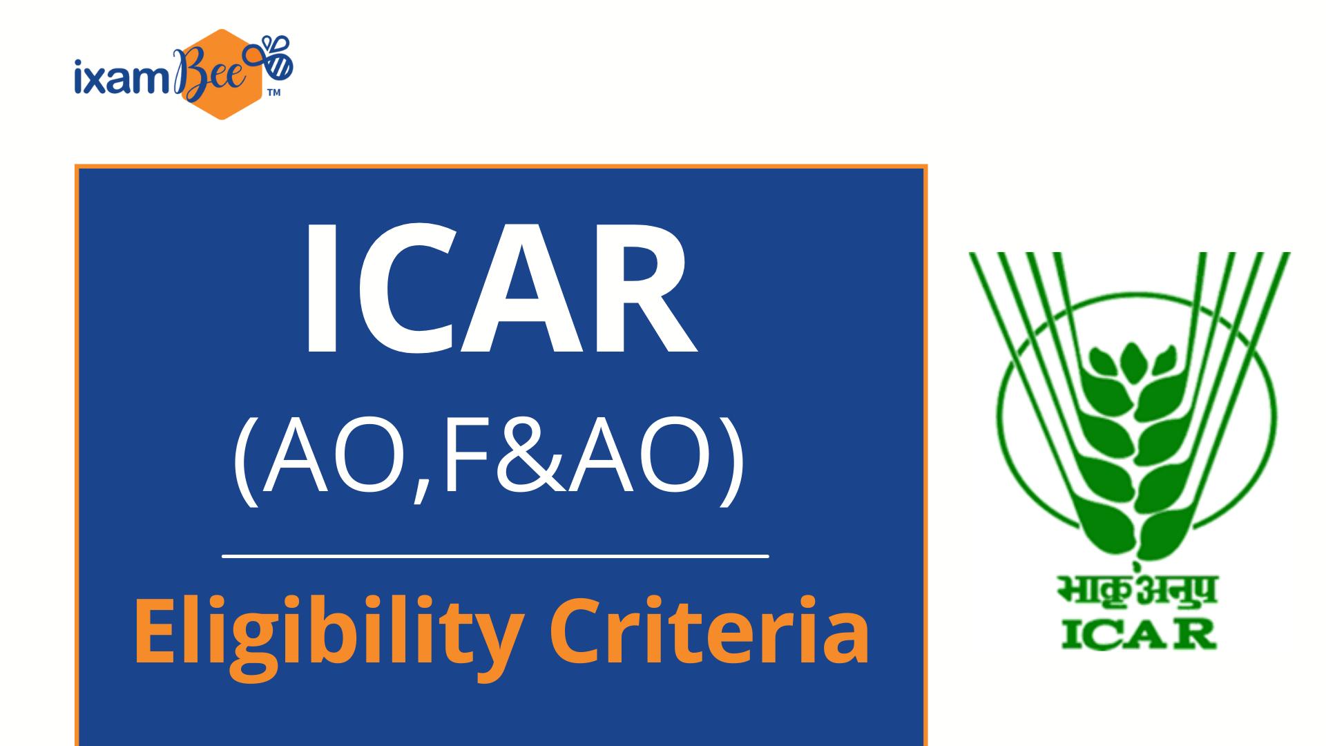 ICAR Eligibility