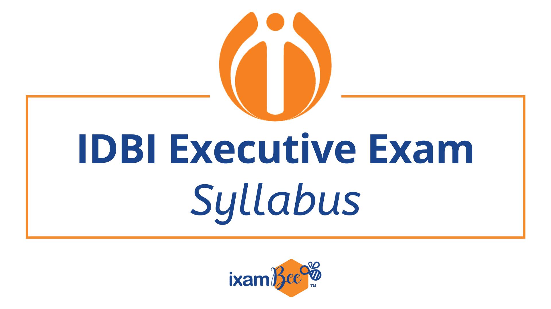 IDBI Executive Exam Syllabus