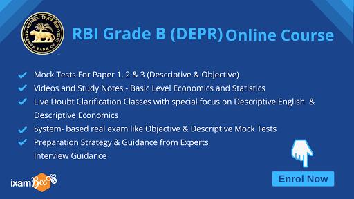 RBI Grade B DEPR online course