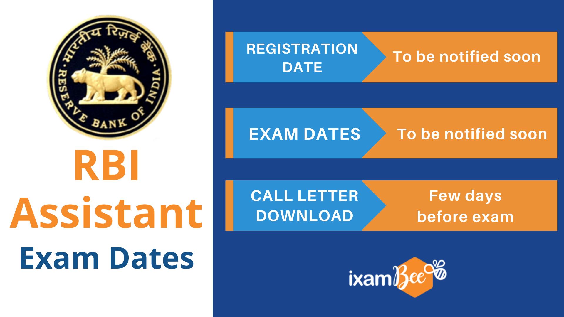 RBI Assistant Exam Dates