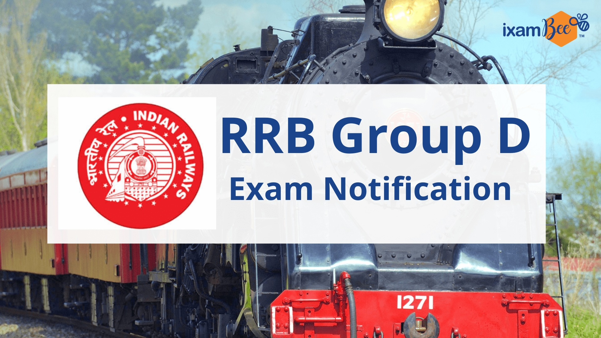 RRB Group D Exam Notification