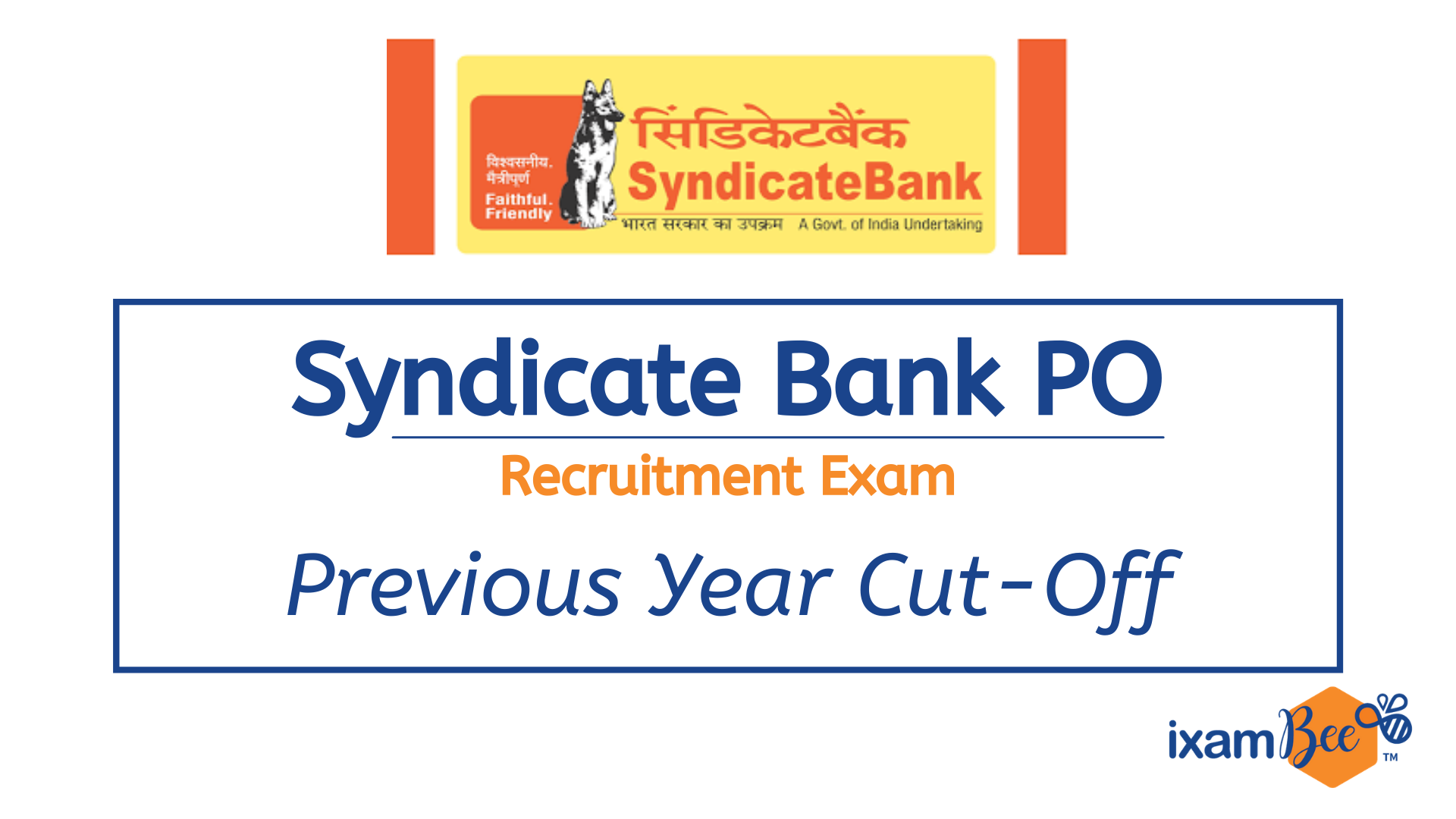 Syndicate Bank PO Recruitment Exam Cut-off